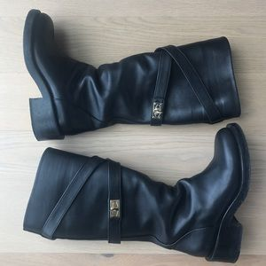 Givenchy shark tooth boots with gold hardware